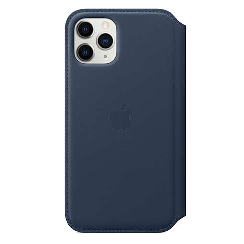 Apple iPhone 11 Pro Leather Folio - Deep Sea Blue