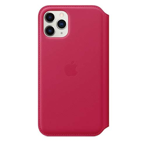 Apple iPhone 11 Pro Leather Folio - Raspberry