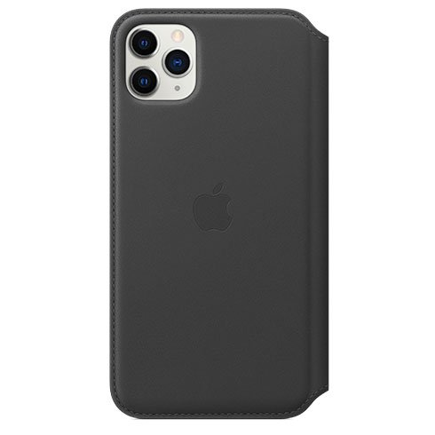 Apple iPhone 11 Pro Max Leather Folio - Black