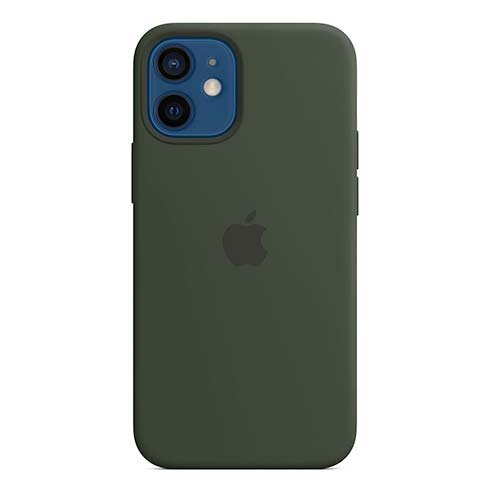 Apple iPhone 12 mini Silicone Case with MagSafe - Cypress Green