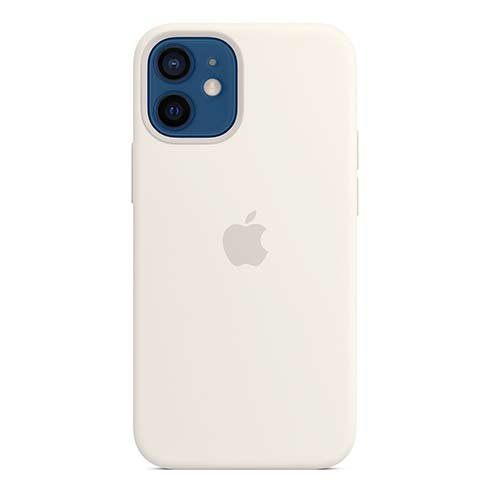 Apple iPhone 12 mini Silicone Case with MagSafe - White