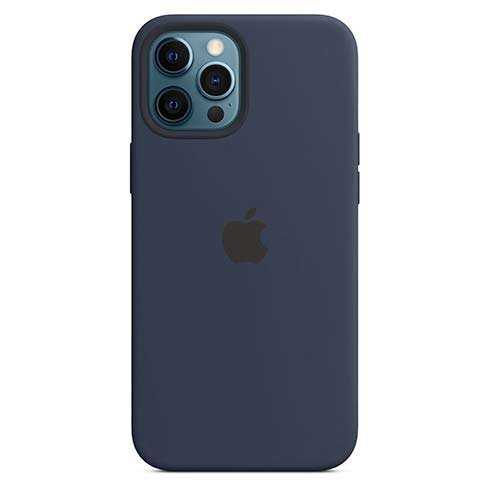Apple iPhone 12 Pro Max Silicone Case with MagSafe - Deep Navy