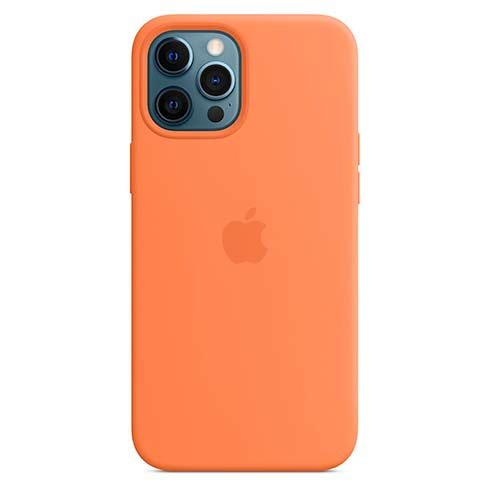 Apple iPhone 12 Pro Max Silicone Case with MagSafe - Kumquat