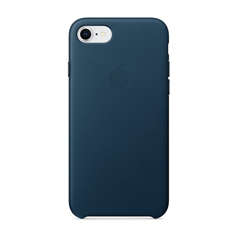 Apple iPhone 8 / 7 Leather Case - Cosmos Blue