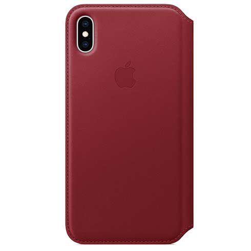 Apple kožené pouzdro Folio na iPhone Xs Max - (PRODUCT)RED