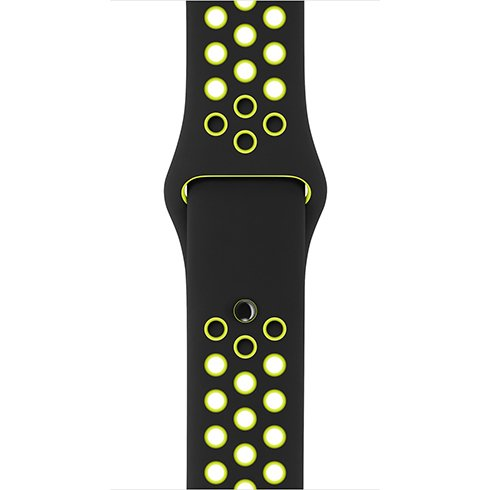 Apple Watch 38mm Black/Volt Nike Sport Band - S/M & M/L