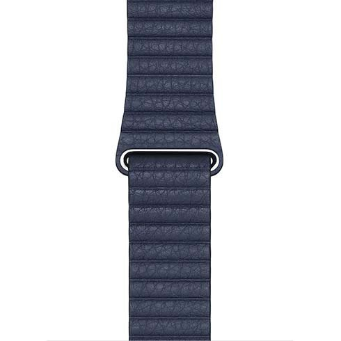 Apple Watch 44mm Diver Blue Leather Loop - Medium