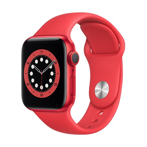 Apple Watch Series 6 GPS, 40mm (PRODUCT)RED Aluminium Case with (PRODUCT)RED Sport Band - Regular