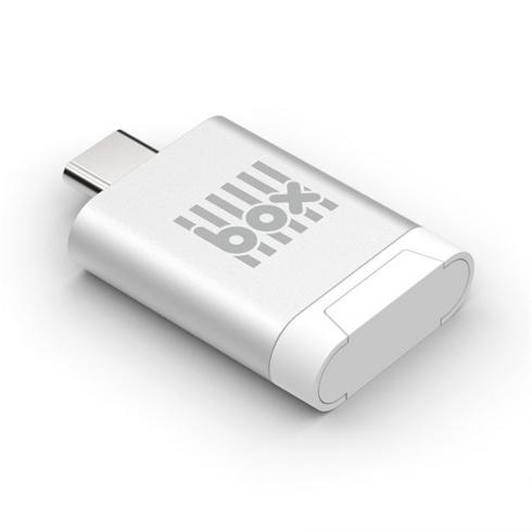 BOX Products USB Type C Memory Card Reader/ Writer - stříbrný