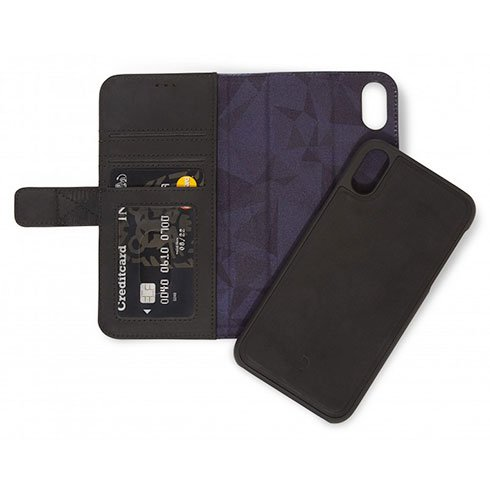 Decoded Leather 2in1 Wallet, black - iPhone XS/X