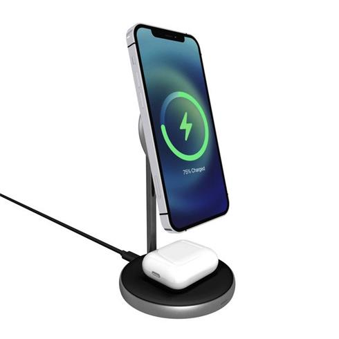 EPICO Magnetic 2in1 Wireless Charger (MagSafe Compatible) 15W/10W/7,5W + 18W QC - Čierny