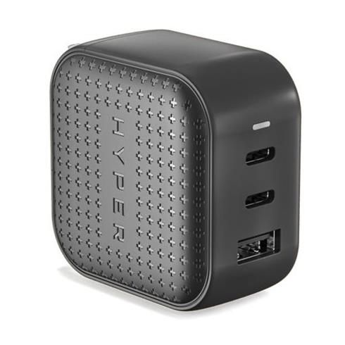Hyper HyperJuice 66W Dual USB-C/USB 3.0 Charger - Black
