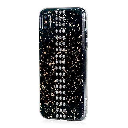 Swarovski kryt Stripe pro iPhone XS X - Black Galaxy Chrome ... 8f73289b1a0