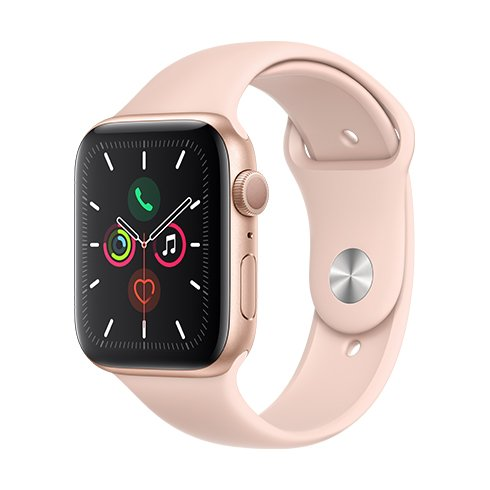 ROZBALENO Apple Watch Series 5 GPS, 44mm Gold Aluminium Case with Pink Sand Sport Band - S/M & M/L