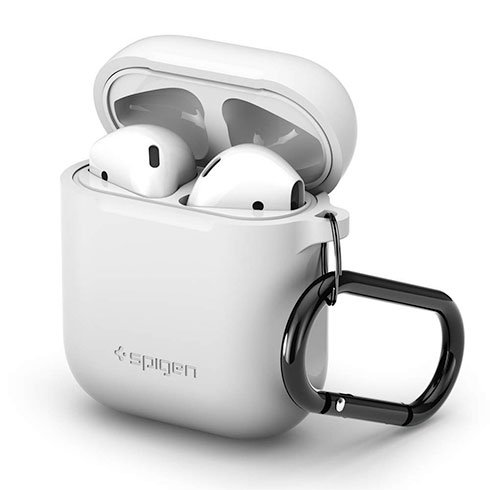 Spigen puzdro Silicone Case pro Apple Airpods - White