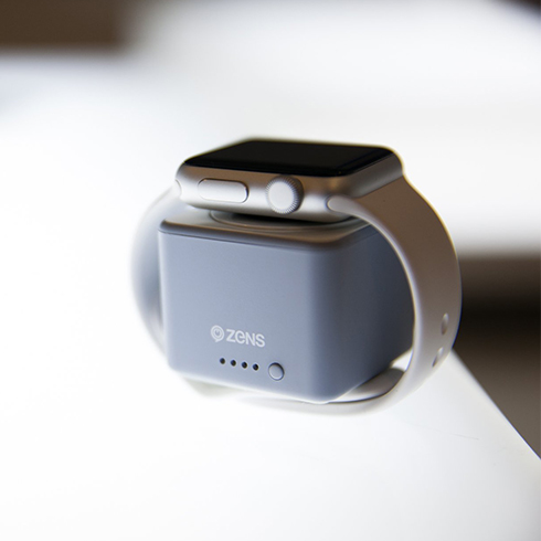 ZENS Apple Watch Powerbank Grey