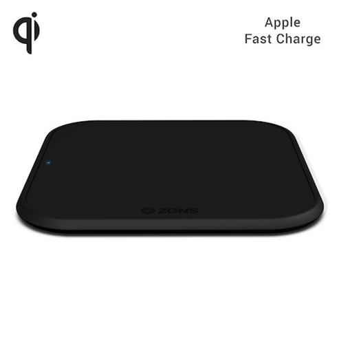 ZENS Single Wireless Charger 10W Slim-line - Black